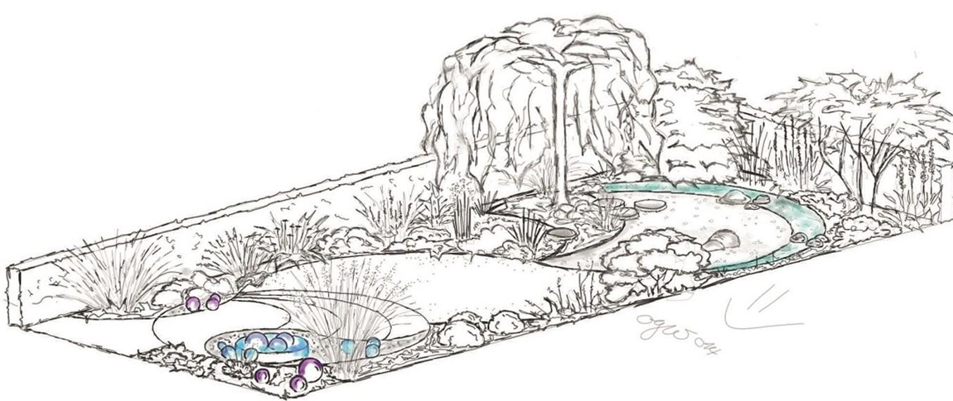 einen kleinen Garten gestalten .... einfach mal magisch ...