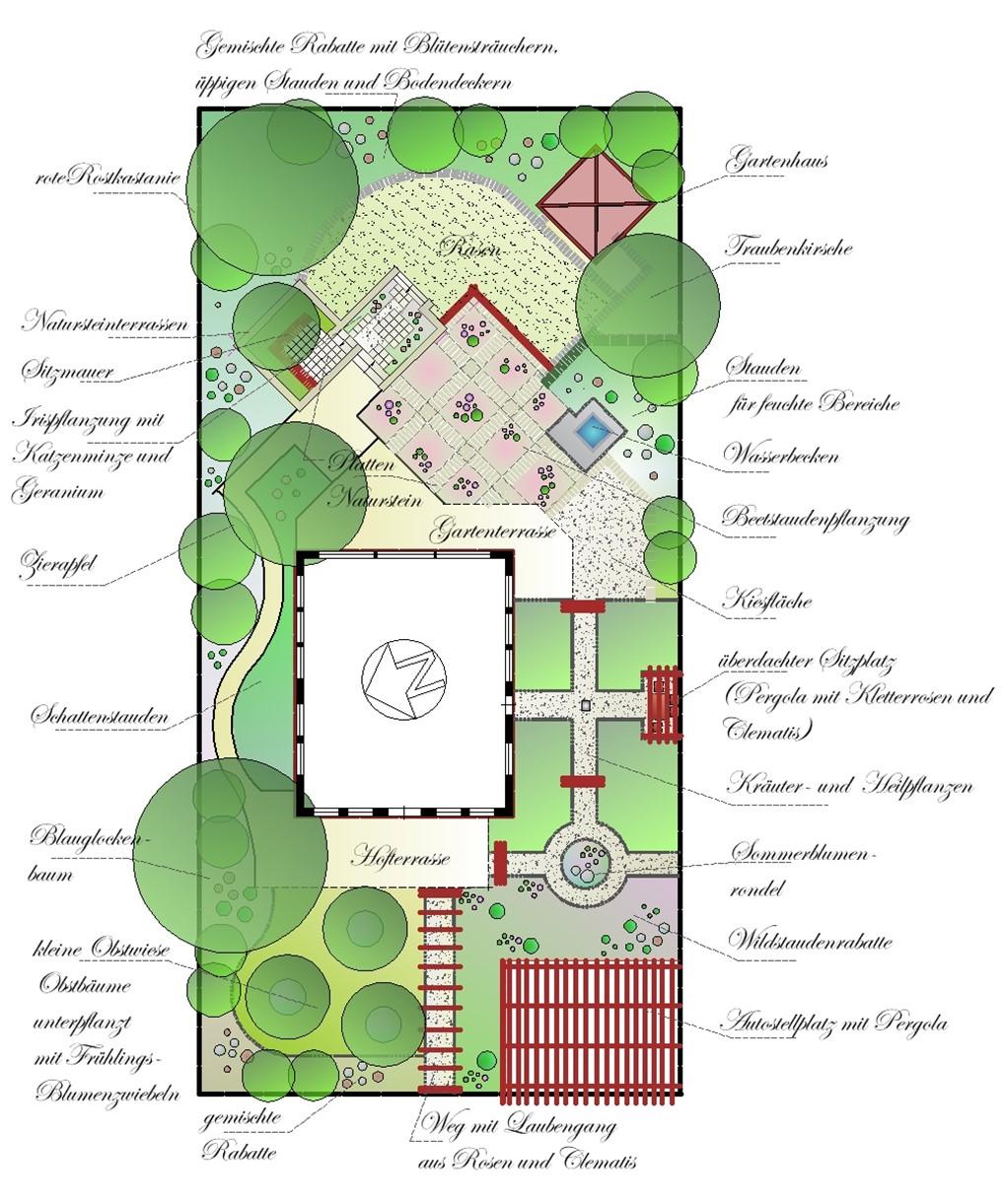 Natur U0026Romantik Pur  Ein Garten Im Stil Eines Englischen Cottage Garten    Gartenplanung Online   Online Gartenwelt